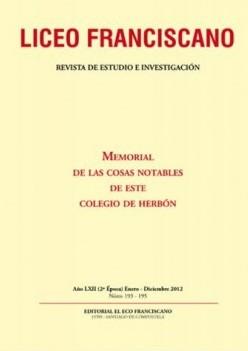 Revista Liceo Franciscano - Números 193-195