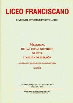 Revista Liceo Franciscano - Números 196-198